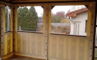 Átlátszó ponyva ablak