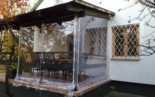 Víztiszta ponyva terasz
